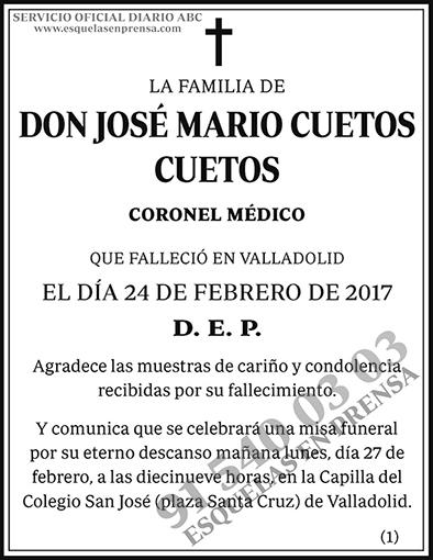 José Mario Cuetos Cuetos